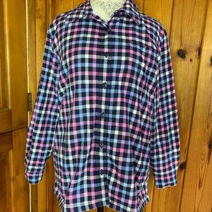 L.L.Bean Fleece Lined Plaid Shirt